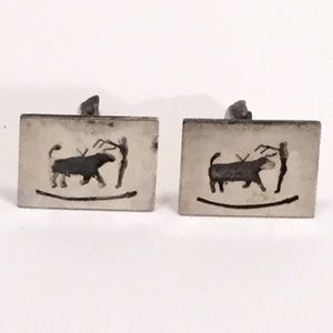 Sterling Cuff Links - Mexico - Bullfighter